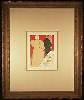 L'Argent Original 1920 Color Lithograph after Toulouse-LAUTREC Framed