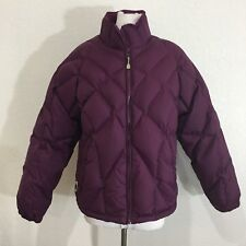 Cabelas Mens Jacket Medium Goose Down Insulated Quilted Purple Puffer Coat