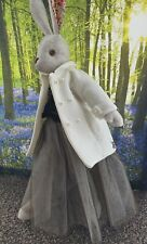 Stunning Luna Lapin Handmade Ivory Wool Coat With antique Pearl  Colour Buttons.