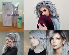 1X Berina A21 Light Grey Color Hair Cream Color Permanant Super Hair Dye