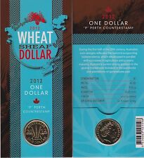 2012 Australia Wheat Sheaf $1 Coin - 'P' Perth Counterstamp