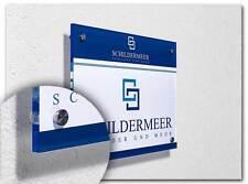 Praxisschild Kanzleischild Firmenschild Büroschild A4 Acrylglas XT inkl. Druck