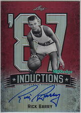 2012-13 LEAF METAL INDUCTION AUTO: RICK BARRY #5/5 AUTOGRAPH NBA TOP 50 PLAYER