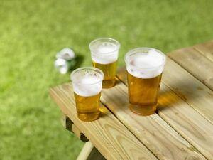 1000 x 10oz Half Pint Plastic Glasses, Disposable, Flexible [5055202184022]