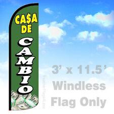 3x11.5 WINDLESS Swooper Feather Flag Banner Sign - CASA DE CAMBIO gq