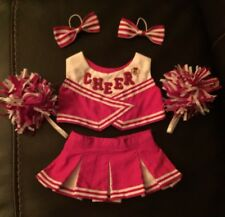 BABW Build A Beat Red and White Cheerleader Teddy Bear Clothes Outfit Uniform
