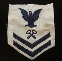 Wwii 1941 Original Vintage United States Military Large White Black Patch*220D