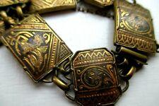 ? Post Uk £3 Unusual Brass Bracelet Egyptian