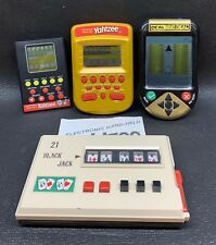 Vintage Electronic Handheld Games Lot Yahtzee, Deal Or No Deal, 21 Black Jack