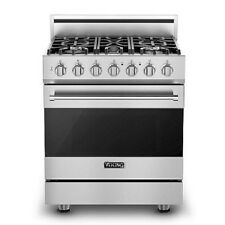 Viking 3 Series 30in Gas Range with 5 Burners - Rvgr33025Bss