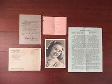 ORIGINAL 1930'S SIGNED PHOTO DEANNA DURBIN UNIVERSAL STUDIOS ORIGINAL ENVELOPE
