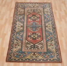 TURKISH HAND KNOTTED CARPET RECTANGLE YELLOW WOOL 30+ HOUSEWAERES AREA RUG 4X7ft