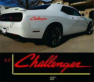 2 decals Dodge challenger  Windshield Vinyl Decal Sticker Vehicle Logo