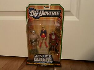 DC Universe Justice League Unlimited 3 Pack, Warlord, Supergirl, Deimos, NIB