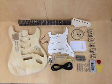 No-Solder Full Size DIY KIT Wooden Electric Guitar E-200 Free Digital Tuner,Pick