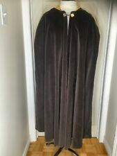 Classic handmade medieval heavy travel cloak, satin lined hood, quality, LARP