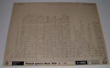 Ersatzteilkatalog auf Microfich VW Passat B3 35i syncro Allrad ab Baujahr 1990!