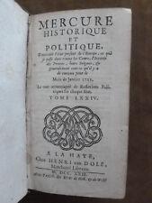 MERCURE HISTORIQUE ET POLITIQUE. T.74.Janvier-juin 1723 . LA HAYE.HENRI VAN DOLE