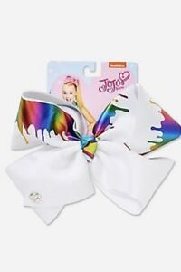 JoJo Siwa WHITE Paint Drip Bow New with Tags