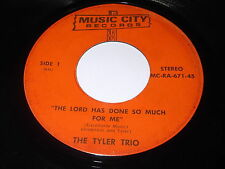 The Tyler Trio: The Lord Has Done So Much For Me / Keep On 45 - Black Gospel
