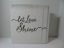 Wedding Planner/Organizer Book Let Love Shine Cloth Cover