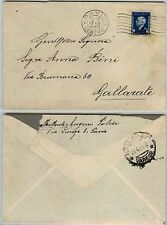 RSI-MARCHE DA BOLLO 50c(24) usata per posta-Busta Pavia->Gallarate 17.4.1944