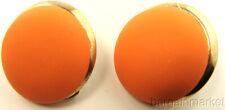 Vintage Tangerine Orange Button Clip-On