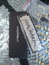 Maliparmi Italy Sequin Pants Silver Gold Size 10  Long or 46 Long European