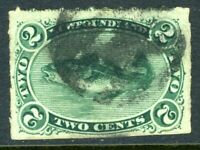 Canada 1879 Newfoundland 2 Cent Green Fish Scott #38 Rouletted Mint A669 ⭐⭐⭐⭐⭐⭐