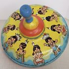 Vintage Ohio Art Tin Litho Spinning Top Three Little Indians Great graphics