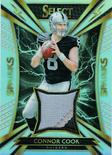 CONNOR COOK 2016 SELECT SPARKS MATERIALS ROOKIE PATCH 72/99! FREE SHIP! RADIERS!