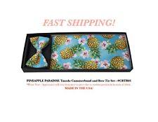 PINEAPPLE PARADISE Hawaiian Tuxedo Cummerbund Bow Tie Set NEW CBTR01