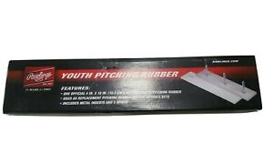 "Rawlings Official Youth Pitcher's Plate Rubber 18""x4"" Three Spikes Metal Inserts"