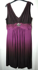 PLUM PURPLE LADIES PARTY FORMAL DRESS EMPIRE LINE SIZE 12 DRESSBARN COLLECTION
