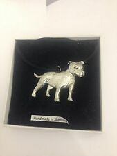 Bull Terrier PP-D15 Dog Pewter Pendant on a  BLACK CORD  Necklace