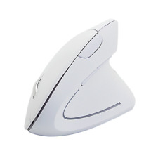Wireless Ergonomic Vertical Optical PC Mouse 6 Buttons 1600 DPI  PS4 White