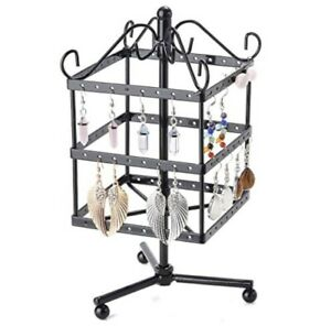 96 Pair Earring Stand Holder Display 3 Tiers Cube Ornate Organise Tidy Jewellery