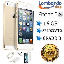 APPLE IPHONE 5S 16GB GRADO B ORO GOLD ORIGINALE RIGENERATO RICONDIZIONATO USATO