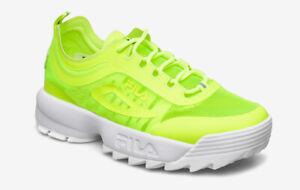 Scarpe Sneakers Uomo FILA DISRUPTOR RUN Neon Lime Mis EU 44