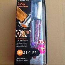"New InStyler The Original  Hot Iron 1 1/4"" Barrel Ceramic - Pink Zebra -"