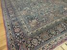 9x12 Antique  Mashaad wool hand-knotted Oriental Area Rug Blue Pink Navy