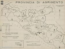 Provincia Agrigento: Tutti i Comuni 1938.Linosa,Lampedusa. Anno XVI Era Fascista