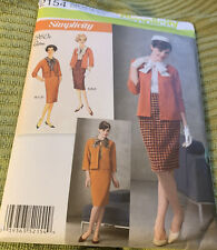 Simplicity 1960s Skirt Top Jacket Cardigan Sewing Pattern 6,8,10,12,14 2154