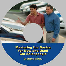 Auto Sales Training - Mastering the Basics eBook on CD by Stephen Croteau