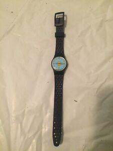 """Vintage 1999 Blue Swatch """"Gardening"""" Women's Watch - Works"""