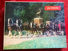 Vintage Great American Puzzle Factory Clydesdales Puzzle Anheuser-Busch 1987