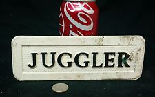 VINTAGE FREAK SIDESHOW  SIGN, JUGGLER,OBSCURE,ODDITY, CLOWN,CARNIVAL,ODD,CIRCUS