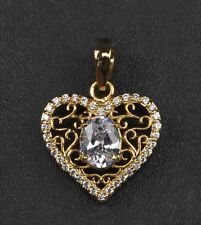 14KT Yellow Gold 3.00 Carat Oval Shape Solitaire With Accents Women's Pendant