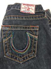 True Religion Bobby Big T Rainbow Pocket Black Denim Jeans Pants Size 29 USA