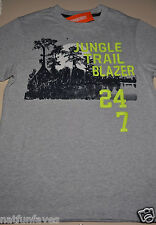 Gymboree boy jungle trail blazer tee shirt size 7 NWT top boys gray embroidered